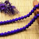 Beads, Glass, Dark blue , Round shape, Diameter 8mm, 10 Beads, [BHB0169]